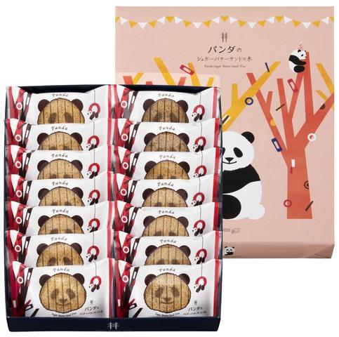 砂糖奶油樹 熊貓圖案 白朱古力夾心脆餅 14 個裝